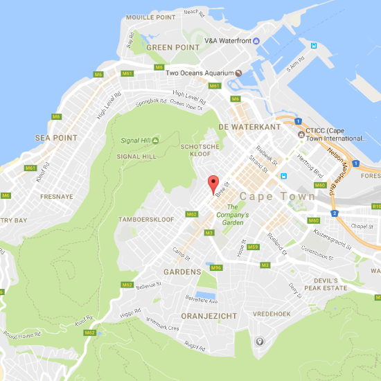 KudosAfrica Cape Town head office - map